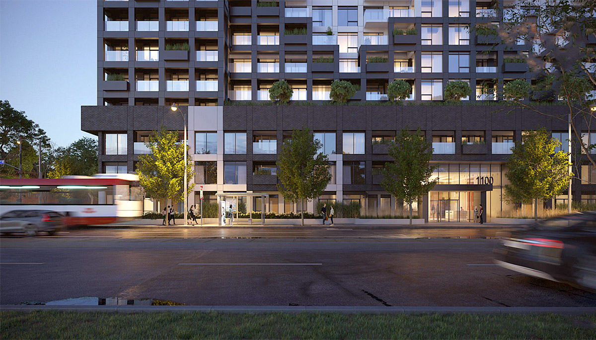 New 14 storey-high condo residence at 1100 Sheppard Ave W, North York, ON M3J 0H1