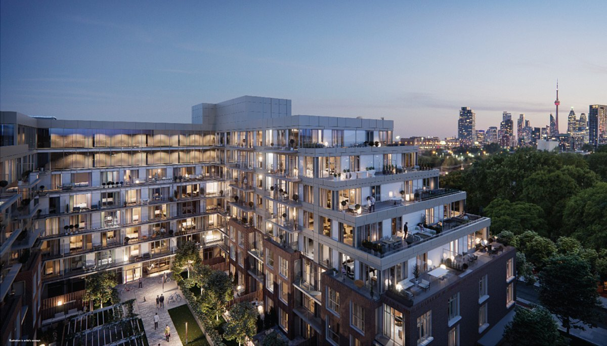 New Nine-Storey Mid-Rise Condominium in Leslieville
